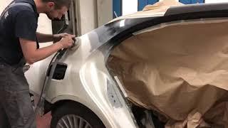 Ремонт заднего крыла Mercedes S-class w222