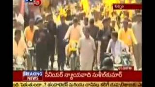 Telugu Political News - Chandrababu Bike Rally Against Liquor At Kuppam (TV5)
