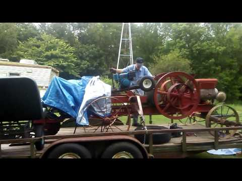 William McGee fine tunning his fully restored Antique Gas Engine Wood saw