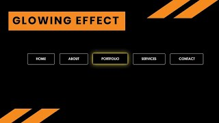 Navbar with Glowing Effect on Hover   Pure css Animation