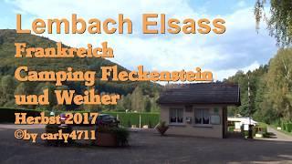 Badeweiher und Campingplatz Fleckenstein Lembach Elsass Frankreich Herbst 2017