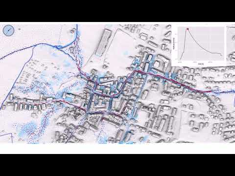 2D Simulation and visualization of flooding in Basel area, Switzerland