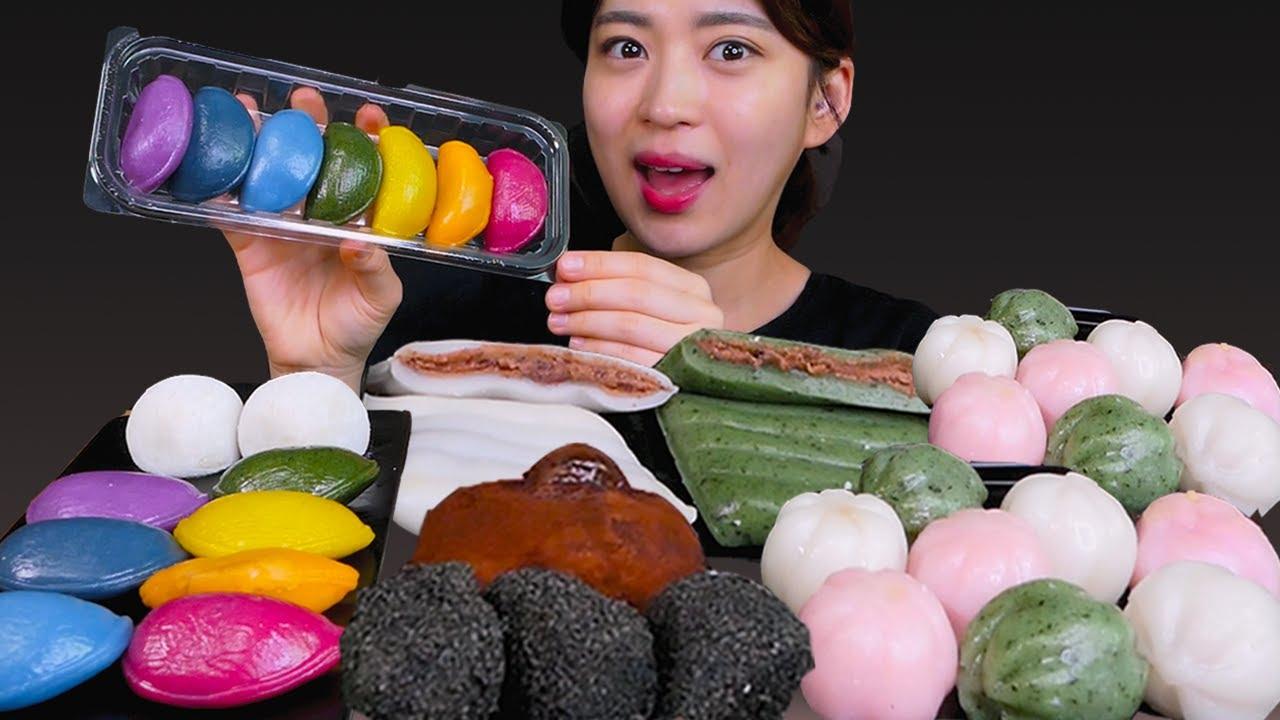 Sweet Tteok-Rice cake😍 떡하나 주면 안잡아먹지~😆 [Tteok, Rice cake ...