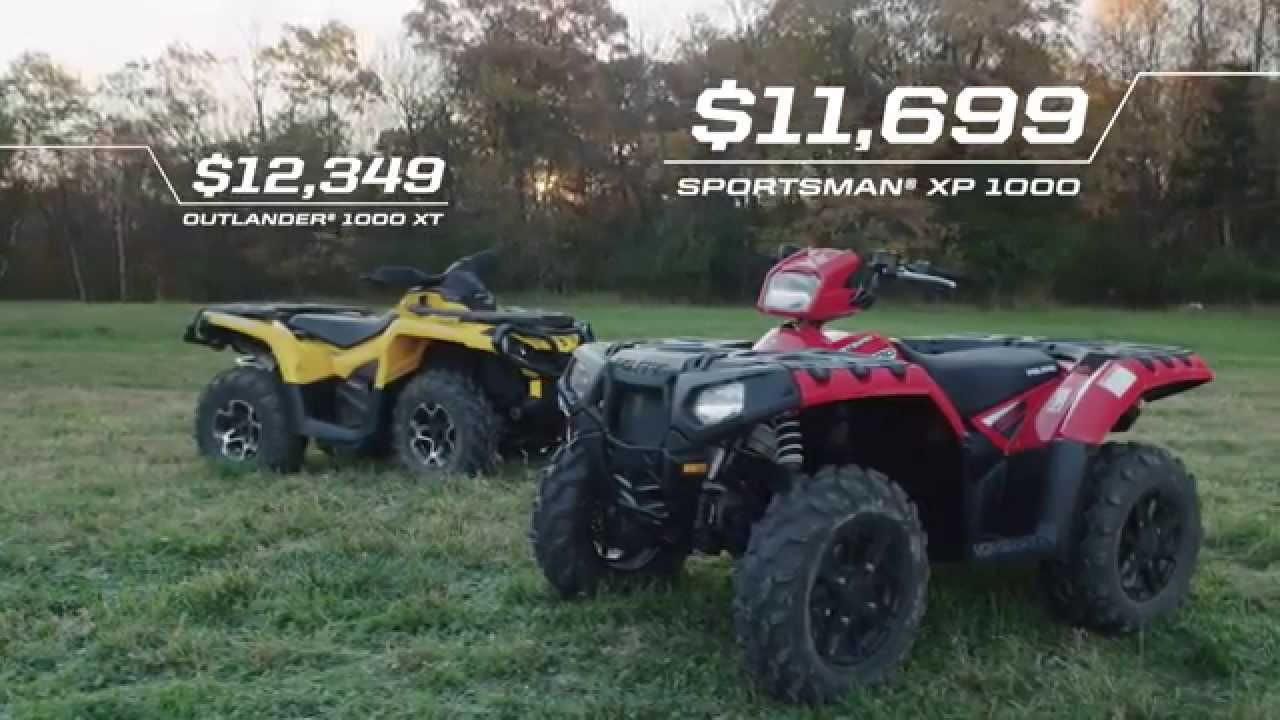 2015 polaris sportsman xp 1000 vs can am outlander xt. Black Bedroom Furniture Sets. Home Design Ideas