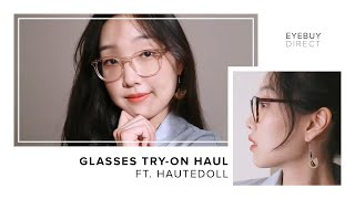 Gambar cover Glasses Try On Haul for Low Bridge Noses | EyeBuyDirect x Hauted0ll