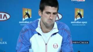 Video Novak Djokovic - AO 2011semifinal vs Roger Federer pm conference download MP3, 3GP, MP4, WEBM, AVI, FLV Juni 2018