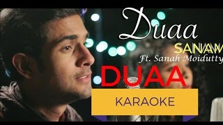 Duaa(Acoustic) Karaoke With Lyrics | SANAM | Sanah Moidutty |