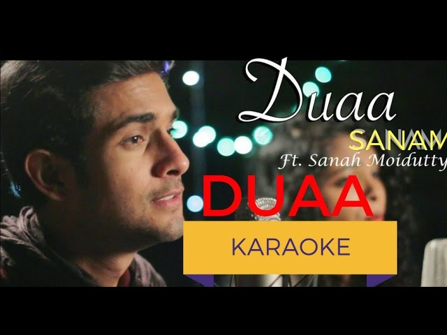 Duaa(Acoustic) Karaoke With Lyrics | SANAM | Sanah Moidutty