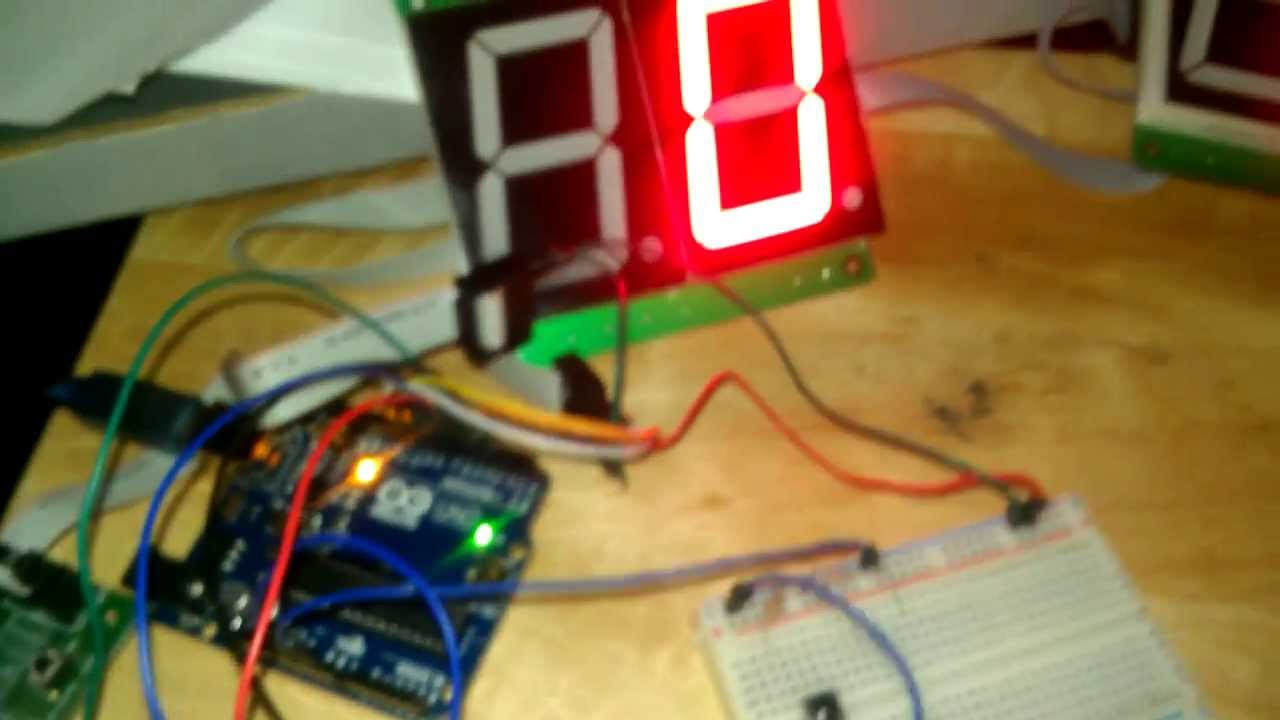 Arduino 7 Segment Led Score Board 4511 A Bcd To Decoder Driver Used Convert The Logic