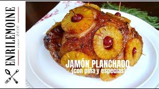 El jamón planchado con piña y especias puede complementar el pavo en la mesa Acción de Gracias, es protagonista de las mesas de Navidad y Año Nuevo, ...