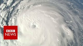 Hurricane Florence seen from space - BBC News