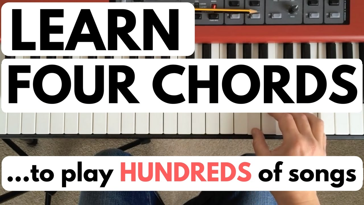 Piano chords for beginners learn four chords to play hundreds of piano chords for beginners learn four chords to play hundreds of songs youtube hexwebz Choice Image