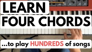 Piano chords for beginners: learn four chords to play hundreds of songs