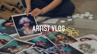 Packaging, plants, and more studio decor 🎨 ARTIST VLOG 43