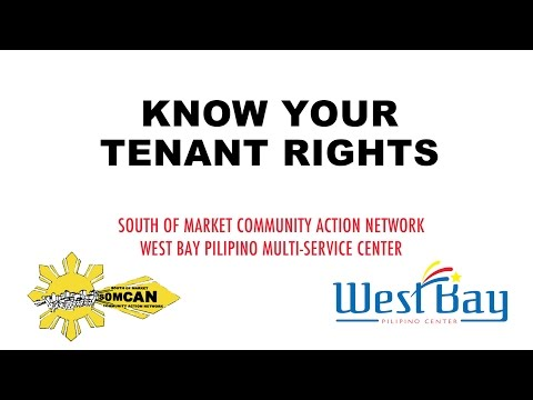 Know Your Tenant Rights - San Francisco