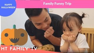 Halloween! Family Baby Make A Pumpkin Smiley And Pumpkin Angry | Video For Kids | HT BabyTV ✔︎