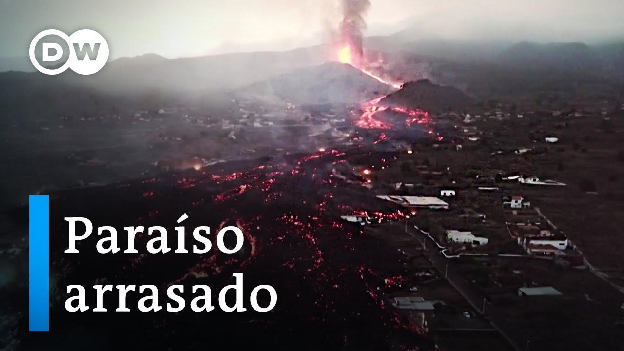 Download La lava se traga la tierra en La Palma