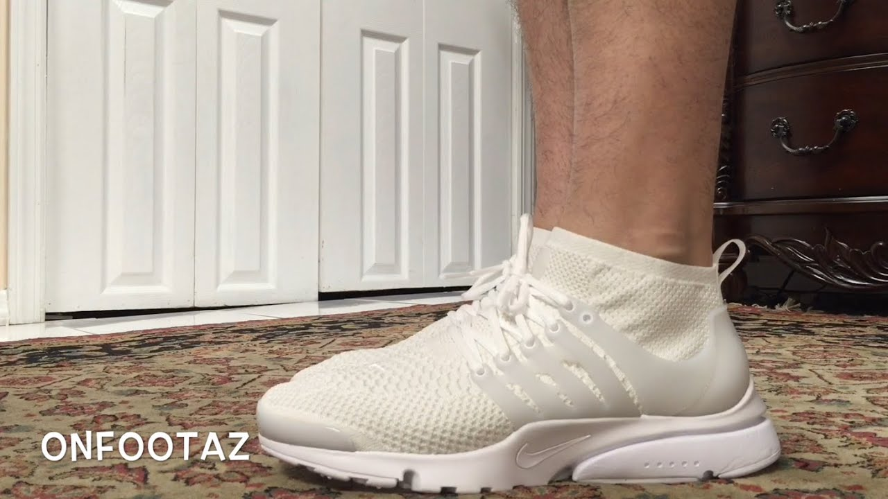Air Presto White On Feet