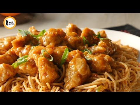 Orange Chicken With Spicy Noodles Recipe By Food Fusion