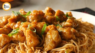 Orange Chicken With Spicy Noodles Food Fusion