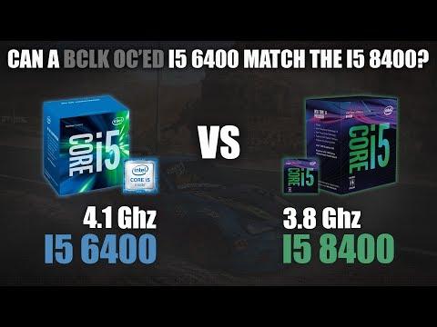 I5 6400 vs I5 8400   Can a BCLK OC'ed I5 6400 match the I5 8400?   720p, 1080p, 1440p Benchmarks