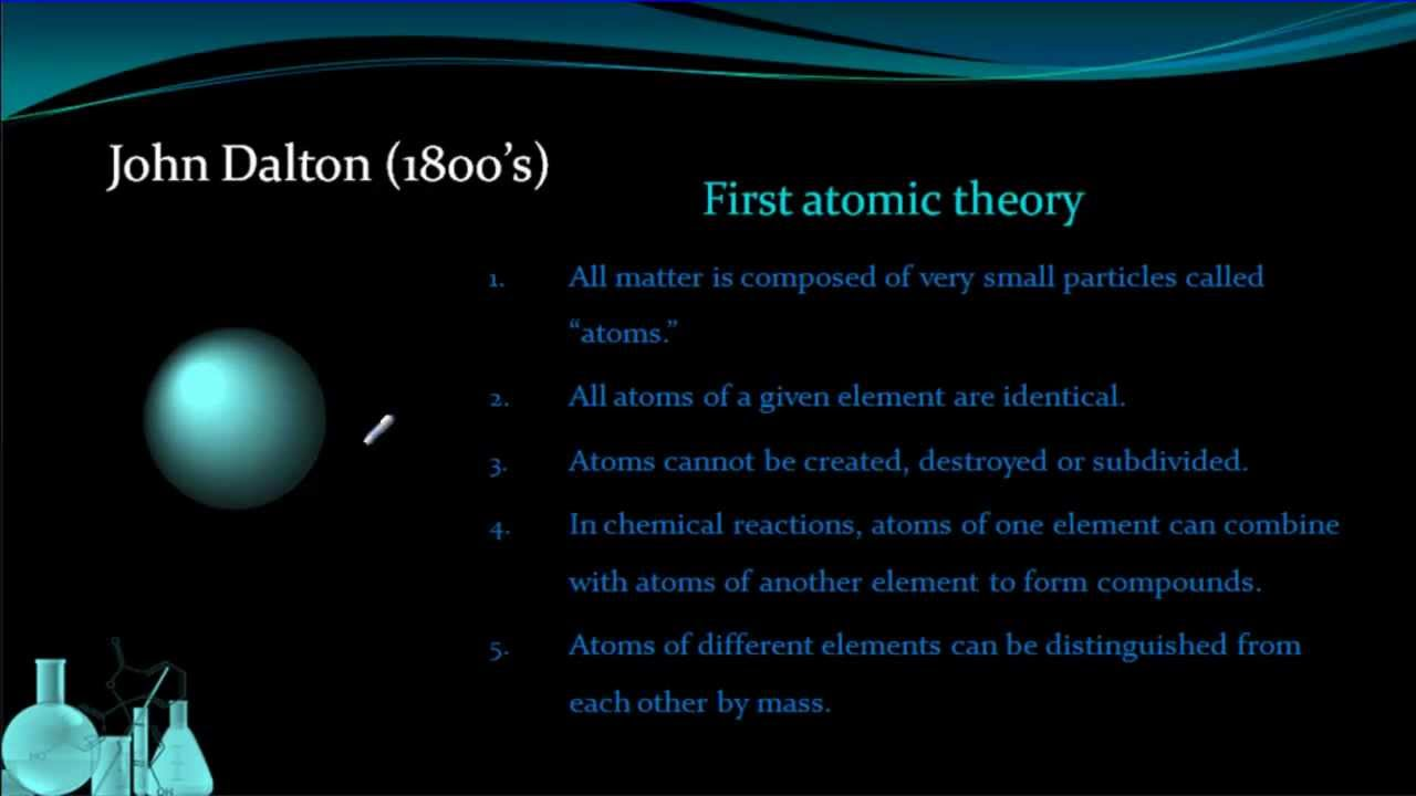 John dalton the first benefactor of the atomic theory