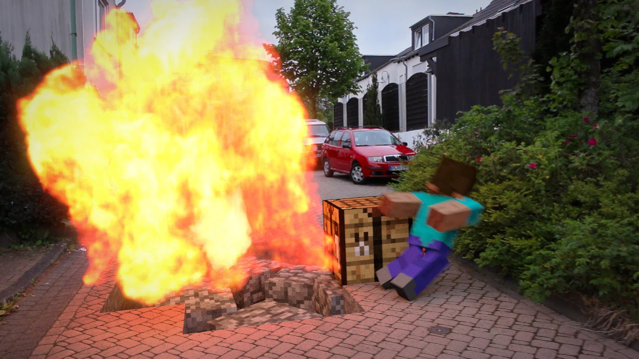 Creeper Explosion In Real Life Youtube