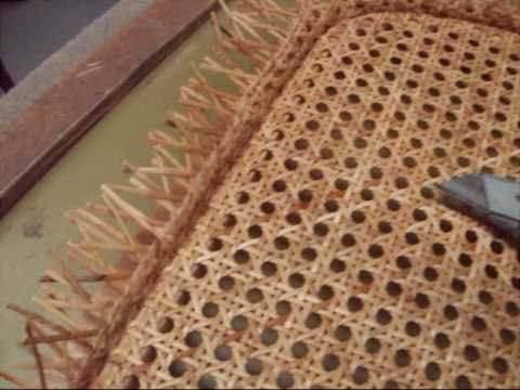 Chair caning how to re cane a chair seat in under 10 mins youtube