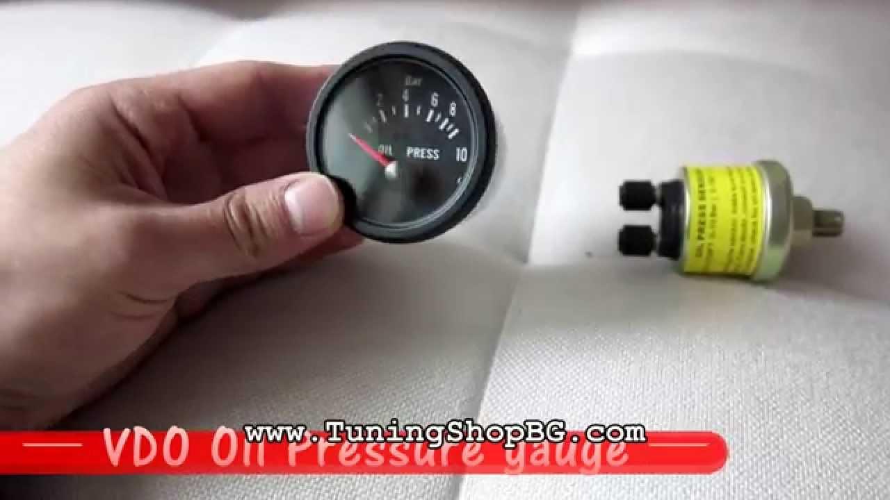 hight resolution of vdo oil pressure gauge black tuningshopbg youtube vdo oil pressure gauge wiring diagram