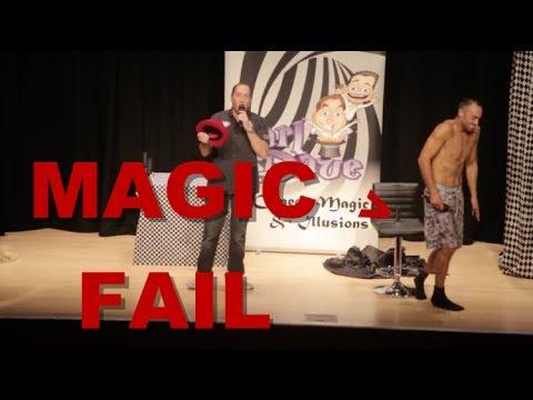 Magic Fail - When a MAGIC TRICK goes WRONG. Ouch!