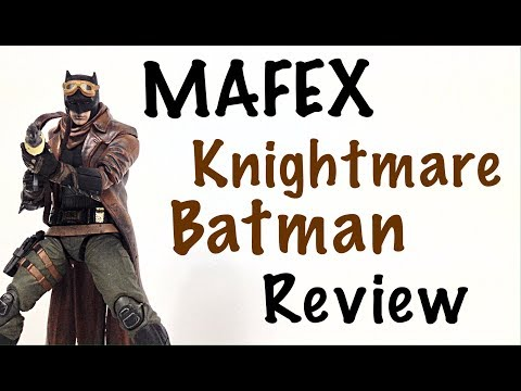 Mafex Medicom Toy BvS Dawn of Justice KNIGHTMARE BATMAN Action Figure Review
