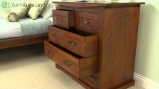 Tokyo Brown Teak Mango Chest of Drawers From Oak Furniture Land