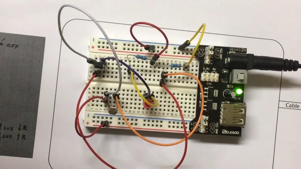 Circuito Ldr : Circuito led encendido con ldr sensor de luz youtube