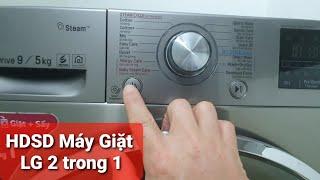 HDSD máy giặt LG 2 trong 1 chế độ chỉ sấy quần áo