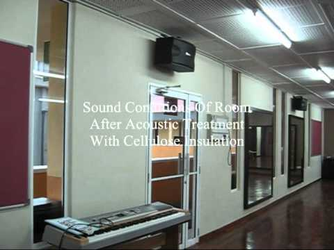 """CELLULOSE INSULATION - Acoustic Treatment To Music Room """"Before And After"""""""