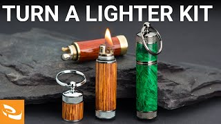 How to Turn a Key Ring Lighter Kit (Woodturning Project)