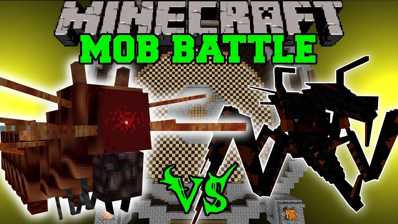 Jumpy Bug Vs Crazy Evil Bugs Minecraft Mob Battles Orespawn Mods Youtube