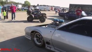 405 Street Outlaws  Derek Travis || First Track Apearance with Silver Unit's new engine.