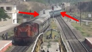 funny movement with train