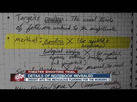 Details of James Holmes' notebook revealed