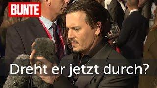 Johnny Depp - Dreht er jetzt völlig durch? - BUNTE TV