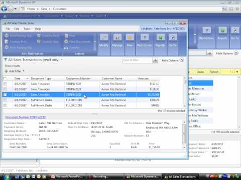 Microsoft Dynamics GP 101 - General Navigation - Part 3