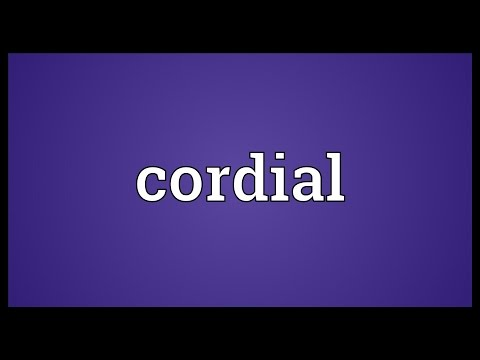 Cordial Meaning