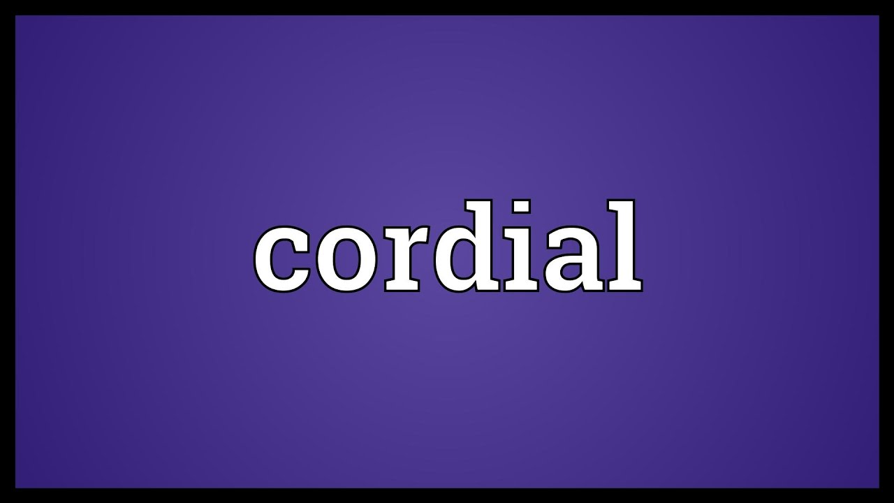 Cordial relationship definition