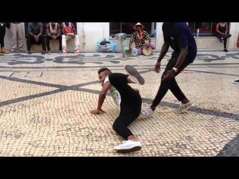 African street dance in Lisbon, Portugal