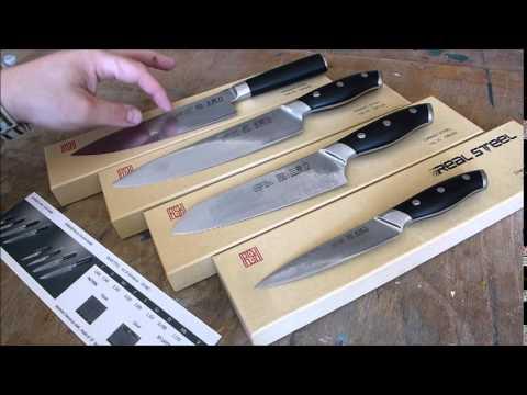 Real Steel Kochmesser - VG-10 Damascus Chef Knife (60HRC)