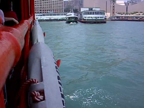 STAR FERRY FROM HONG KONG ISLAND TO KOWLOON