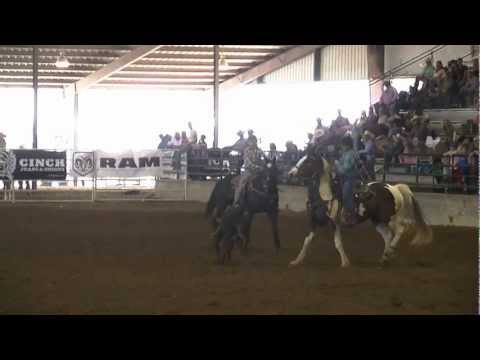 2012 Texas Junior High State Finals - Ty Harris   Team Roping 1st  Go