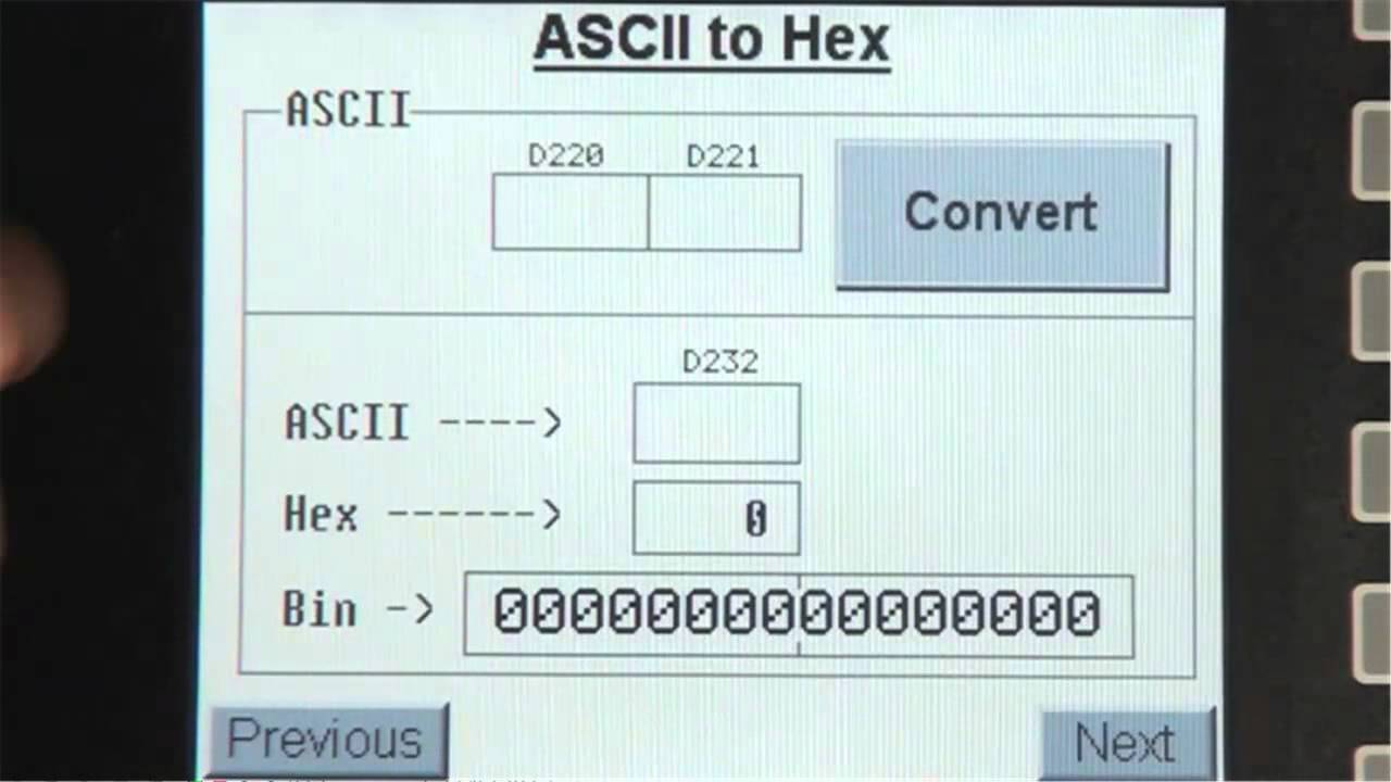 Ascii to Hex