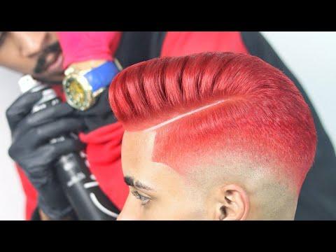 INCRÍVEL TRANSFORMAÇÃO😱 Fazendo Coloração Vermelho Quente 💈✂️🇧🇷